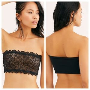 NWT 🌟 FREE PEOPLE   Reversible Black Lace Bandeau